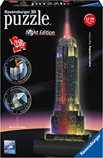 Ravensburger Empire State Building – Night Edition – 216 Piece 3D Jigsaw..