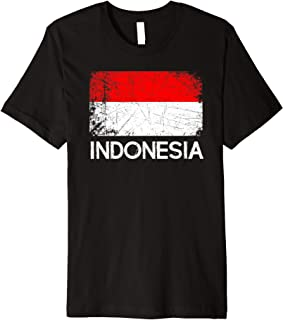 Indonesian Flag   Vintage Made In Indonesia Gift Premium T-Shirt