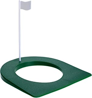 MUXSAM 1 Pc Golf Putting Green Regulation Cup Hole Flag Indoor Practice Training Aids