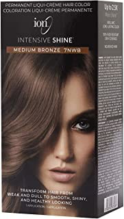 ION Intensive Shine Permanent Liqui-Creme Hair Color Kit Fade Resistant Gray Coverage 2.5 Times More Shine Brilliant Long Lasting Color - Medium Bronze 7NWB