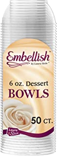 Embellish Clear Disposable Heavy Duty Plastic 6 Oz Dessert Bowls 50 Count, Ideal For Wedding, Catering, Parties, Buffets, Events, Or Everyday Use, 1 Pack