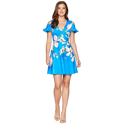 Ted Baker Ambre Harmony Scallop Detail Dress (Bright Blue) Women