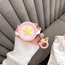 AirPods Pro Case,Cute Cartoon Pink Star Silicone Protective Cover Case for Apple Airpods Pro (2019),Kawaii Fun Cases for Girls Kids Teens Air pods Pro (Pink Star)