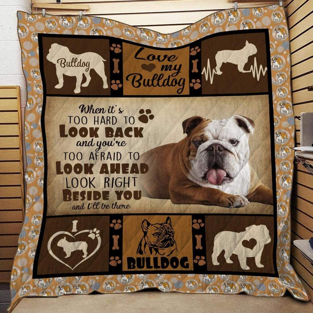 Personalized Love My Bulldog Overseas parallel import regular item Quilt - Ranking TOP18 Daughter Dog K Son to