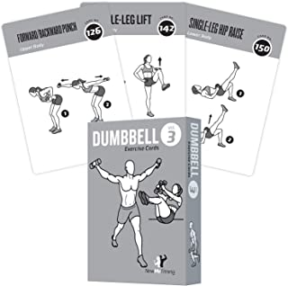 Exercise Cards Dumbbell Home Gym Strength Training Building Muscle Total Body Fitness Guide Workout Routines Bodybuilding ...