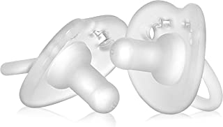 Evenflo Feeding Balance Plus Stage 1 Cylindrical Baby, Newborn and Infant Pacifier - Developed with Pediatric Feeding Specialists - 0 to 6 Months (Pack of 2)