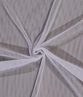 White English Netting Mesh Polyester Net Fabric by The Yard