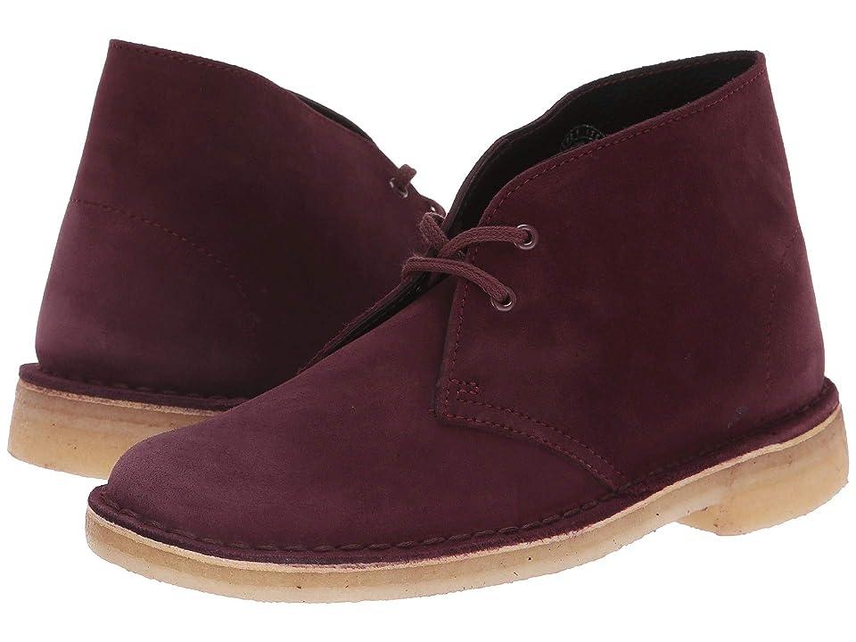 Clarks Desert Boot (Bordeaux Suede) Women's Lace-up Boots, Burgundy