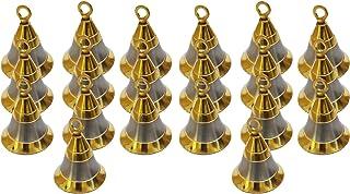"PARIJAT HANDICRAFT Pack of 20 Elephant Camel Cow Brass Bells 2"" Height 1.5"" Dia Indian Vintage Style Decor Assorted 2"" Bra..."