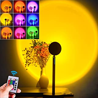 Sunset projectielamp, zonsondergang-projectielamp, lichtlamp, sfeerlamp, 16 kleuren, RGB-ledlicht, instelbare 180 graden r...