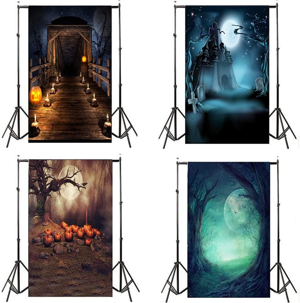 Decoration Durable Fabric Photography Backdrop Collapsible Background Cloth Without Wrinkles For Halloween Dress Up Party Selfie Photo Background Baby Portrait Photobooth Family Birthday Party