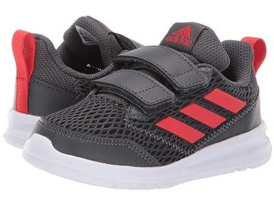 adidas Kids AltaRun CF (Toddler) (Grey Six/Active Red/Grey Six) Boys Shoes