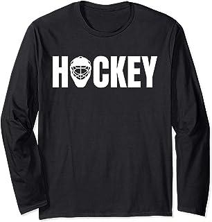 Hockey Goalie Helmet: Cool Ice Hockey Gift Long Sleeve Shirt