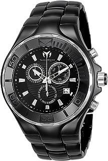 Men's Cruise Quartz Watch with Ceramic Strap, Black, 23 (Model: TM-115318)