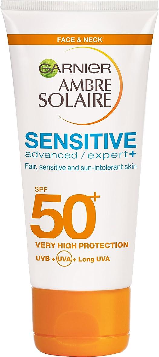 インディカ証明書複製するGarnier Ambre Solaire 敏感肌のための高度な日焼け止め  SPF50+  50ml*3個入 [並行輸入品]