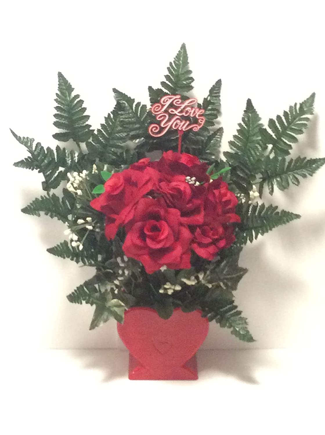 Red Roses Bouquet I Large-scale sale Love Flower Arrangement Artificial Gorgeous Sil You