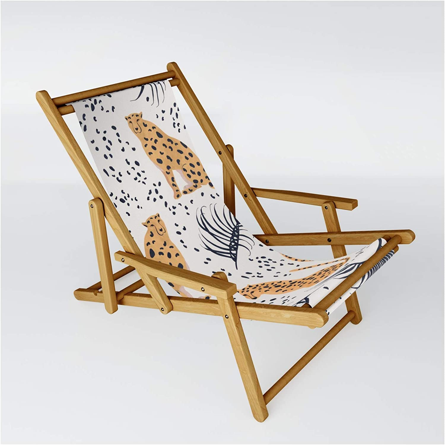 Society6 Cheetah by Lidiebug Same day shipping on High quality new Sling Size One Chair -
