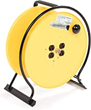 Woodhead Super-Safeway 930 Hand-Wind Reel - NEMA 1 Cord Storage Drum Reel, Large Spool, Steel-Rod Frame