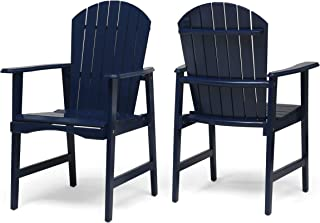 Easter Outdoor Weather Resistant Acacia Wood Adirondack Dining Chairs (Set of 2), Blue Navy Finish