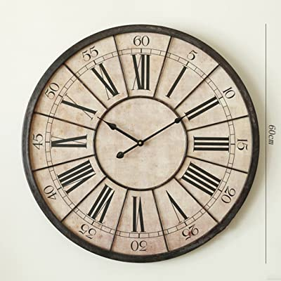 Fly American Style Living Room Retro Decorative Wall Clock Clock Wall Clock (Size : 60cm