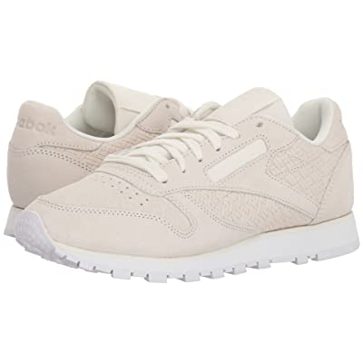 Reebok Lifestyle Classic Leather Woven Embossed (Chalk/White) Women