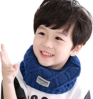 Kids Boys Girls Fashion Cold Weather Scarves Knitted Snood Infinity Tube Scarf