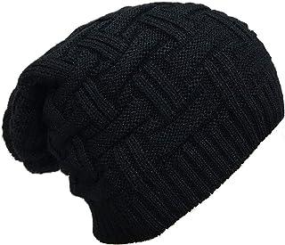 ADBUCKS Snow Proof Inside Fur Unisex Wool Beanie Cap Warm Knit Hat Thick Fleece Lined Winter Hat for Men & Women