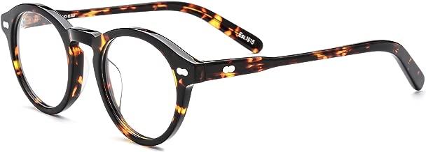 HEPIDEM Acetate Women Vintage Retro Round Glasses Frame for Men MILZTEN