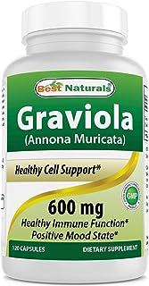 Best Naturals Graviola Capsules Annona Muricata, 600 mg, 120 Count