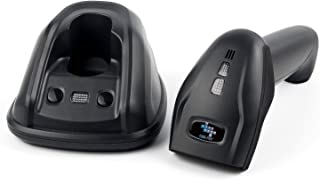 EOM-POS Cordless Wireless Barcode and UPC Code Scanner/Reader with Stand-up Base/Cradle and USB Cord. NOT for Square