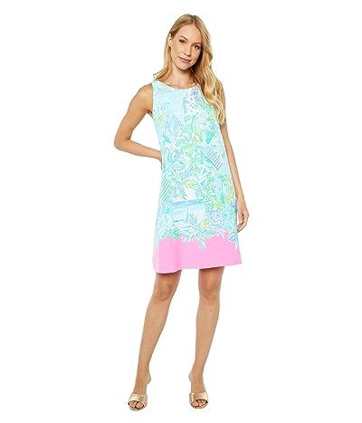 Lilly Pulitzer Jackie Shift Dress (Whisper Blue Beach Happy Engineered Woven) Women