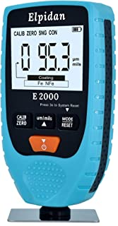 """Paint Thickness Gauge Meter – Coating Thickness Gauge – Paint Depth Gauge Meter   Zero & Point Cal   Wide 2.2"""" High Contrast LCD   0 to 1500um   Soft Carrying Case   Auto Power Off   Automatic F/NF"""