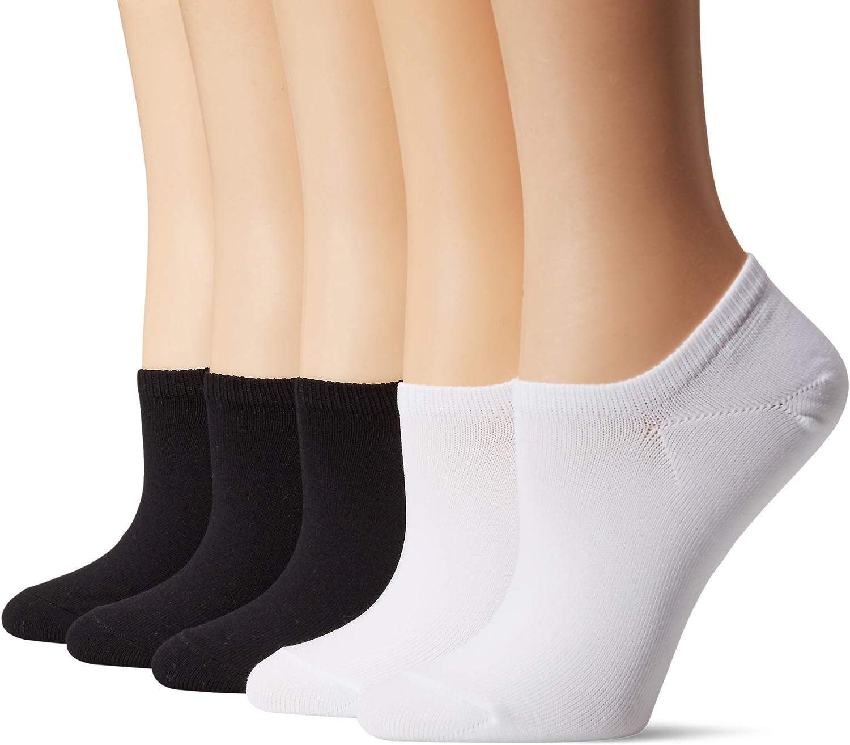 Amazon Brand - Daily Ritual Women's 5-Pack Lightweight Microfiber Nylon Low-Cut Socks