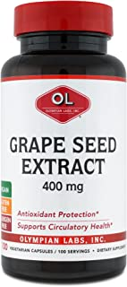 Olympian Labs Grape Seed Extract 400mg, 100 capsules bottle (00382)