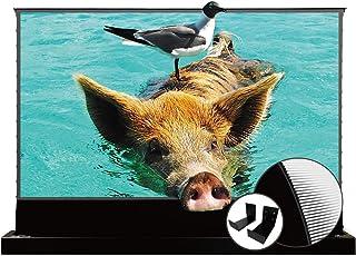 VIVIDSTORM S PRO Ultra Short Throw Laser Projector Screen,Black Housing Motorized Floor Rising Screen 72 inch Ambient Ligh...