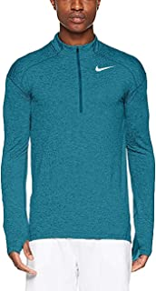 Mens Dry Element 1/2 Zip Running Top (XX-Large, Heather Teal)