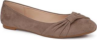 MaxMuxun Women Shoes Faux Suede Round Toe Ballet Flats