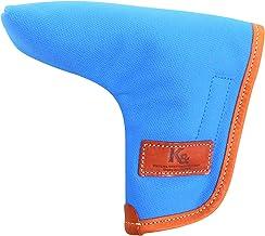 K& PC-BETA ピンタイプ パターカバー バケッタレザー(fieno色)×帆布(ブルー色)