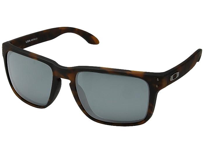 Oakley Holbrook XL (Matte Brown Tortoise w/ Prizm Black) Athletic Performance Sport Sunglasses