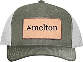 One Legging it Around #Melton - Leather Hashtag Light Brown Patch Engraved Trucker Hat