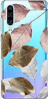 Suhctup Compatible con Huawei P40 Pro Funda Flor de TPU Transparente Diseño de Flores Patrón Cárcasa Ultra Fina Suave con ...