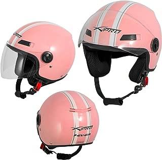 A-Pro Motorradhelm Motorrad Roller Jet Helm Demi Mit Viser Matt Schwarz L