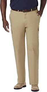 Haggar Men's Big-Tall Stretch Comfort Cargo Expandable-Waist Classic-Fit Pant