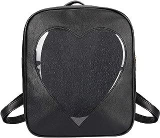 SteamedBun Ita Bag Heart Backpack Candy PU Leather Kawaii Pins Bag