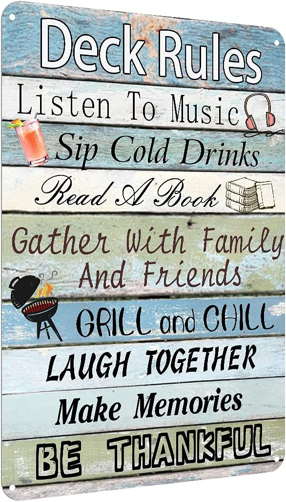 Free Shipping New Viodenl Deck Rules Metal Direct store Tin Sign Pool House Wa Cave Terrace Bar