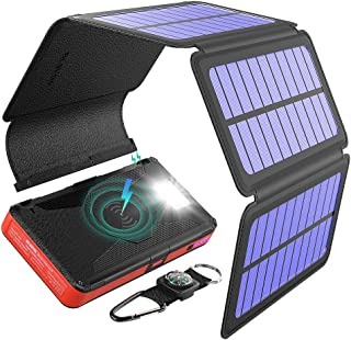 BLAVOR solar power bank Cargador solar Cinco paneles