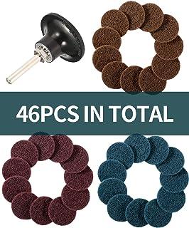 SATC 46PCS Sanding Discs Set 2 Inch Roloc Quick Change Sanding Disc with 1/4 Inch..