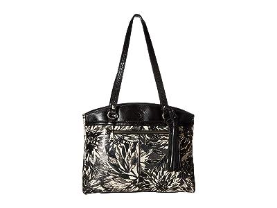 Patricia Nash Sunflower Print Poppy Tote (Sunflower/Black/White) Tote Handbags