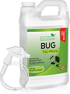 Bug- No-More | Natural Insect & Pest Control Spray | Ant Roach Termite Fly Mosquito Flea & Spider Killer | Organic Indoor Outdoor Pesticide I Home Patio Lawn & Garden Insecticide | Kid & Pet Safe 64oz