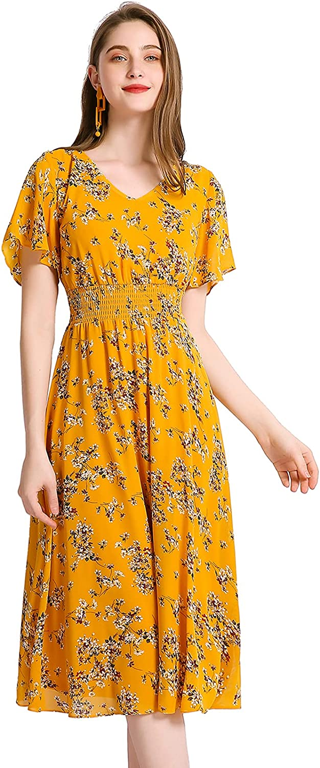 Gardenwed Floral Chiffon Dresses Challenge the lowest price of Japan for Women Homecoming Flowy Cock Limited price
